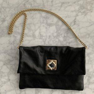 Michael Kors Black Leather Envelope Purse